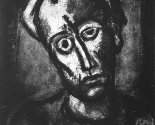 """Georges Rouault """"Qui ne se grime pas?""""- Héliogravure - (1923) cm. 56,5x43"""