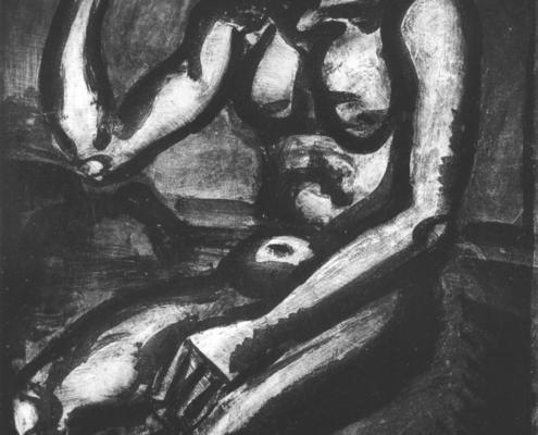 """Georges Rouault """"Le dur métier de vivre...."""" - Héliogravure - (1922) cm. 48x36"""