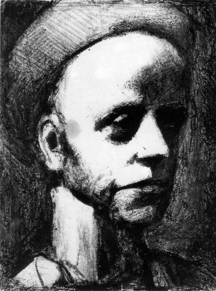 "Georges Rouault ""Autoritratto"" - litografia - (1926) cm. 23,5x16,5"