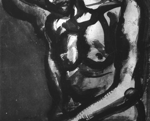 """Georges Rouault """"Solitaires en cette vie d'embuches et de malices""""- Héliogravure - (1922) cm. 57,5x41,5"""